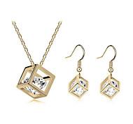 abordables -Mujer Cristal Conjunto de joyas - Cristal Incluir Plata / Dorado Para Boda / Fiesta / Cumpleaños / Pendientes / Collare