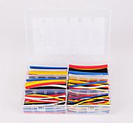 Недорогие -iztoss 180pcs 90mm соотношении 2: 1 6 размер комплект φ1.6-9.5 0.8mm-4.8mm полиолефиновая термоусадочная трубка рукав кабель обруча