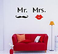 DIY Wall Stickers Wall Decals, Mr. Mrs. PVC Wall Stickers