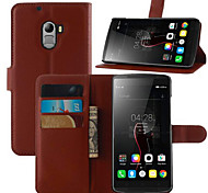 For Lenovo K4 Note Case Wallet Card Holder with Stand Flip Case Full Body Case Solid Color Hard PU Leather