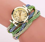 Недорогие -Xu™ Жен. Часы-браслет Модные часы Кварцевый Имитация Алмазный Повседневные часы PU Группа Цветы Матовый черный Богемные Черный Белый