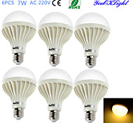 E26/E27 LED Globe Bulbs B 12 SMD 5630 550 lm Warm White 3000 K Decorative AC 220-240 V