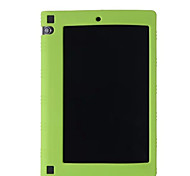 cheap -Case For Lenovo Back Cover Solid Colored Soft Silicone for Lenovo Yoga Tab 3 8.0