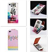 Farbe in Englisch patten up-down wiederum über PU-Leder Ganzkörper-Case für iPhone 4 / 4s