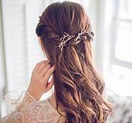 Alloy Hair Clip,Simple Cute Romantic Casual/Sporty Office/career Korean Golden