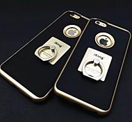 Недорогие -Кейс для Назначение Apple iPhone 6 iPhone 6 Plus Кольца-держатели Кейс на заднюю панель Сплошной цвет Твердый Металл для iPhone 6s Plus