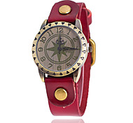 cheap -Women's Quartz Wrist Watch Large Dial Leather Band Charm Casual Fashion Black White Blue Red Orange Brown Green Yellow
