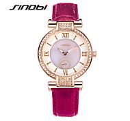 SINOBI Women's Fashion Watch Quartz Water Resistant / Water Proof Leather Band Purple