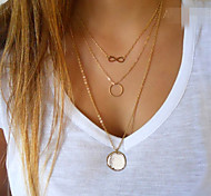 Women's Pendant Necklaces Circle Infinity Alloy Fashion Simple Style European Costume Jewelry Jewelry For Party Daily Casual