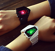 cheap -Men's Women's Couple's Digital Sport Watch LED Silicone Band Charm Silver