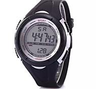 Infantil Relógio Esportivo Relógio de Moda Digital Alarme Calendário Cronógrafo LCD Plastic Banda Preta