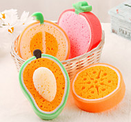 cheap -Fruit Shaped Cleaning Sponge(Random Color)