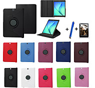 cheap -Case For Samsung Galaxy Tab S2 9.7 Tab S2 8.0 with Stand Flip 360° Rotation Full Body Cases Solid Color Hard PU Leather for