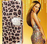 cheap -Case For Samsung Galaxy Card Holder Rhinestone with Stand Flip Pattern Full Body Cases Leopard Print Hard PU Leather for S8 Plus S8 S6