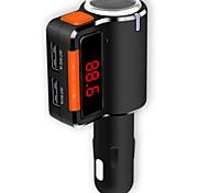Недорогие -bc09 громкой связи Bluetooth FM двойной USB автомобильное зарядное устройство 3.1a mp3-плеер
