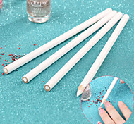 4pcs/set Nail Art Rhinestones Gems Picking Crystal Tool Wax Pencil Pen Picker, Rhinestones Pickup Pens