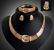 Набор украшений Мода Pоскошные ювелирные изделия 18K золото Имитация Алмазный Геометрической формы Золотой ДляДля вечеринок Особые случаи