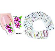 50sheets  Mixed Flower 50Styles Water Transfer Sticker Nail Art Beautiful DIY XF1001-1050