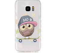 cheap -Case For Samsung Galaxy Samsung Galaxy Case Translucent Back Cover Owl TPU for S7 S6 edge S6 S5 Mini S5 S4 Mini S4 S3 Mini S3 S2