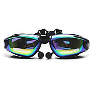 Gafas de natación Anti vaho Tamaño Ajustable Anti-UV Impermeable Gel de Sílice PC Blanco Gris Negro Otros TransparentesRosado Gris Negro