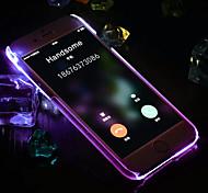 Недорогие -Для Кейс для iPhone 6 Кейс для iPhone 6 Plus Мигающая LED подсветка Кейс для Задняя крышка Кейс для Один цвет Твердый PC дляiPhone 6s
