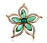 cheap -Women's Rhinestone / Imitation Diamond Brooches - Luxury / Fashion Green Brooch For Wedding / Party / Special Occasion