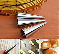 Stainless Steel Cream Horn Cases Forms Pastry Dessert Baking Molds Set of 3