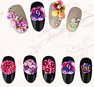 cheap -20PCS Different Styles  Blooming Resin Flower Nail Art Decorations