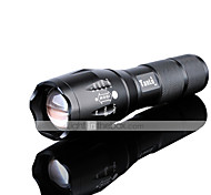 LED Flashlights / Torch LED 3000 lm 5 Mode Cree XM-L2 Adjustable Focus Rechargeable Waterproof Super Light High Power Zoomable 18650 Battery Charger
