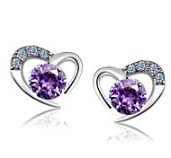 cheap -Z&X® Sterling Silver Earring Stud Earrings Party / Daily / Casual 1 pair
