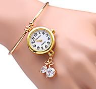cheap -JUBAOLI Women's Quartz Bracelet Watch Casual Watch Alloy Band Sparkle Heart shape Fashion Gold