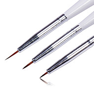 3PCS Colored Drawing Nail Pen Set Nail Art Tool