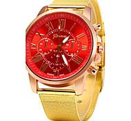 Women's Casual Design Gold Alloy Band Quartz Wristwatch Cool Watches Unique Watches Strap Watch