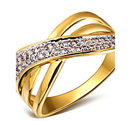 Women's Statement Rings Costume Jewelry Cubic Zirconia Copper Platinum Plated Gold Plated 18K gold Jewelry For Wedding Party Daily Casual