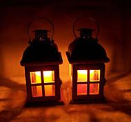 Valentine'S Day Creative Wedding Romantic Storm Lantern Europe Type Restoring Ancient Ways Wooden Candlesticks