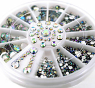 cheap -1 Rhinestones Nail Jewelry 3D Nail Stickers Classic Lovely Daily Classic Lovely High Quality