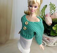 Недорогие -Платья Для Кукла Барби Юбки Верхняя часть Для Девичий игрушки куклы