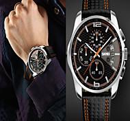 SKMEI Brand Men military Fashion sport watch Men's Quartz Hour Date Clock Man Leather Strap Waterproof Wristwatch Wrist Watch Cool Watch Unique Watch