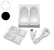 cheap -Charger Dock Station + 2 Battery Packs for Nintendo Wii Remote Controller