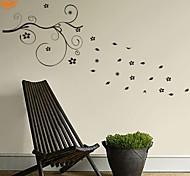 Романтика / Мода / Цветы Наклейки Простые наклейки,PVC S:47*95cm / M:97*199cm/ L:129*262cm