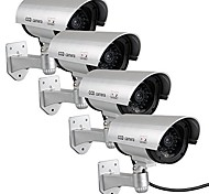 KingNEO 4pcs Outdoor Fake/Dummy Camera for Security Waterproof CCTV Surveillance