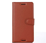 For Sony Case / Xperia X / Xperia XA Card Holder / Wallet / with Stand / Flip Case Full Body Case Solid Color Hard PU Leather for Sony
