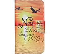 крест шаблон телефона кожаный бумажник чехол для WIKO lenny2 - никогда не переставать мечтать