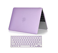 """Case for Macbook Air 11.6""""/13.3"""" Solid Color Plastic Material 2 in 1 Crystal Clear Soft-Touch Full Body Case with Keyboard Cover"""