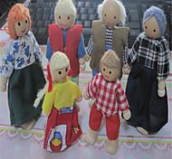 симпатичный кукольный дом семьи из шести человек деревянная кукла куклы и подвижный сустав сцены изменение формы