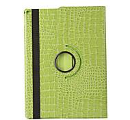 Недорогие -Кейс для Назначение iPad Mini 3/2/1 со стендом С функцией автовывода из режима сна Оригами Поворот на 360° Чехол Сплошной цвет Кожа PU для