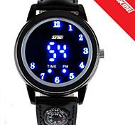 Masculino Mulheres Unissex Relógio Elegante LED Digital PU Banda Preta