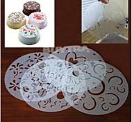 Недорогие -украшения торта трафарет формы обледенения помадной спрей печати сахара круглый многоразового пвх