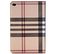 Недорогие -Кейс для Назначение iPad Mini 4 со стендом С функцией автовывода из режима сна Чехол Полосы / волосы Кожа PU для iPad Mini 4