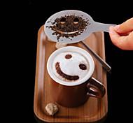 Недорогие -12шт пластик фантазии приготовления кофе печати модель минималистский дизайн пыление накладка